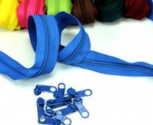 2m Endlos Reißverschluss *B+ 10 Zipper Blau (340)