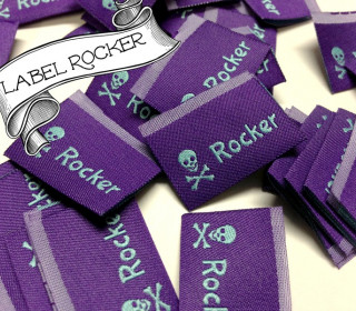 10 fertige Handmade Label Rocker ! Skull