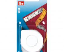 1 Rollmaßband - Mini - 0,3mm x 10mm x 150cm - Prym - Weiß/Gelb