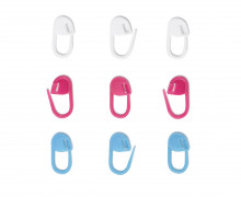 30 Maschenmarkierer - Verschließbar - Prym - Rot/Weiß/Pflaumenblau