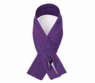 1 Polyesterreißverschluss - 60cm - Nicht Teilbar - Unsichtbar -  Hochwertig - Prym - Violett (150)