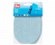 2 Patches - Jeans - Baumwolle - Aufbügelbar - 10x14cm - Prym - Hellblau