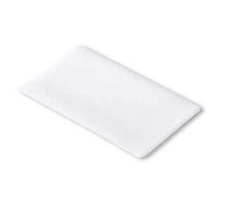 1 Flickstoff - Polyester - Aufbügelbar - 12x45cm - Prym - Weiß