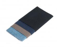 4 Flickstoffe - Baumwolle - Aufbügelbar - 4 Stück á 7x14cm - Prym - 4 dunkle Farben