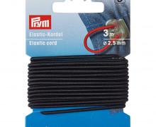Elastic Kordel - 3m - 2,5mm - Prym - Schwarz