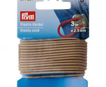 Elastic Kordel - 3m - 2,5mm - Prym - Beige