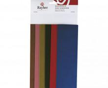 6 x Wachsfolie Country Töne - 20 x 6,5 cm - Wachsfolien Set - Verzierwachs - Zum Verzieren von Kerzen - Rayher - 6 Farben