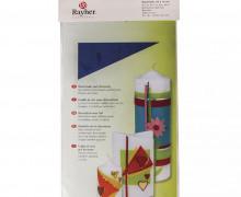 2 Platten Verzierwachs - 200 x 100 x 0,5mm - Zum Verzieren von Kerzen - Rayher - Dunkelblau