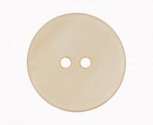 1 Perlmuttknopf – Rund –  15mm – 2-Loch – Beige
