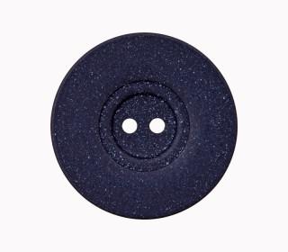 1 Polyesterknopf - 15mm - 2-Loch - Pflanzliche Fasern - Nachtblau