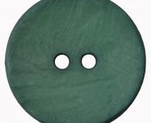 1 Polyesterknopf – Rund –  30mm – Leichte Struktur – 2-Loch – Tannengrün