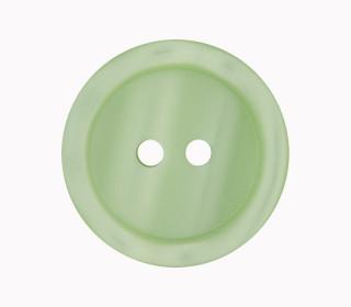 1 Polyesterknopf - 23mm - 2-Loch - Erhabener Rand - Hellgrün
