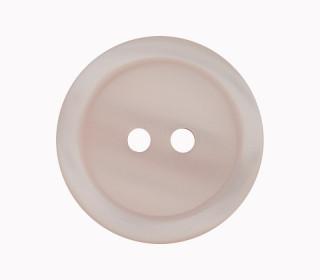 1 Polyesterknopf - 23mm - 2-Loch - Erhabener Rand - Blassrosa