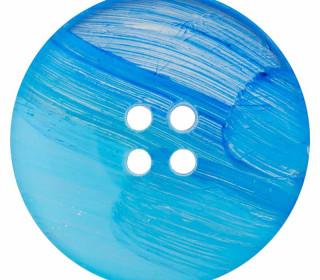 1 Polyesterknopf - 28mm - 4-Loch - Blau