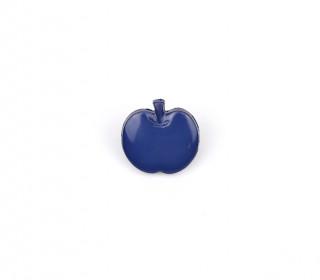 1 Kinderknopf - Apfel - 14mm - Öse - Dunkelblau