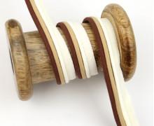 1 Meter Paspelband/Biesenband - Dreilagig - 14mm - Braun