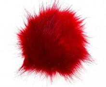 Pompon - Bommel - Puschel - Kunstpelz - 12cm - Rot