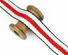 1m Gurtband - Streifen - 40mm - Rot