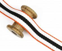 1m Gurtband – Streifen – 40mm – Schwarz
