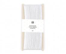 3 Meter Paspelband – 1cm x 3m – Zugeschnitten – Rico Design – Silber