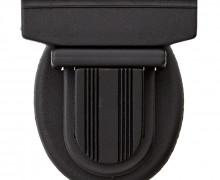 1 Taschenverschluss - Kunststoff - 38mm - Schwarz