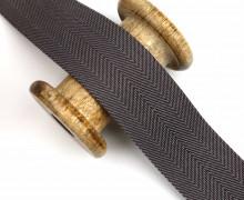 1m Gurtband Für Taschen -40mm - Fischgrät - Lila Dunkel