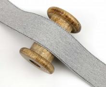 1m Gurtband - Farbige Außennähte - 40mm - Hellgrau