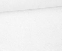 Canvas Stoff - feste Baumwolle - Uni - 145cm - Weiß