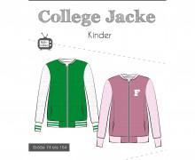 Schnittmuster - College Jacke - Kinder - 72 bis 164 - Fadenkäfer