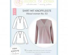 Schnittmuster - Shirt mit Knopfleiste women No. 53 - lillesol&pelle.