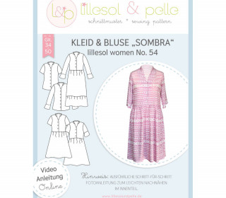 Schnittmuster - Kleid & Bluse Sombra women No. 54 - lillesol&pelle.