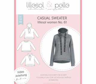 Schnittmuster - Casual Sweater - women  no.61 - lillesol&pelle.