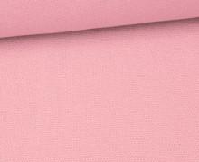 Canvas Stoff - feste Baumwolle - Uni - 145cm - Babyrosa