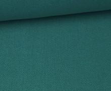 Canvas Stoff - feste Baumwolle - Uni - 145cm - Petrol