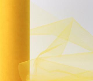 3 Meter Tüll - 22,5cm breit - Gelb