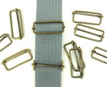 10 Schieber aus Metall für 40mm Band - Bronze