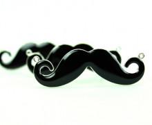 1 Anhänger - Moustache - Schnurrbart - Schwarz ...