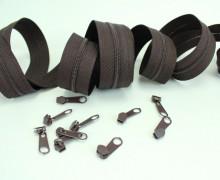2m Endlosreißverschluss *S*+10 Zipper - Schokobraun (304)