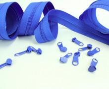2m Endlosreißverschluss *S + 10 Zipper - Blau (340)