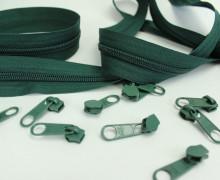 2m Endlosreißverschluss*B* + 10 Zipper - Dunkelgrün (273)