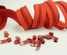 2m Endlosreißverschluss*B+10 Zipper - Aschrot (287)