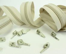 2m Endlosreißverschluss*B+10 Zipper Beige (307)