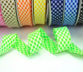 3m Schrägband - Vichy Karo - helles Grün