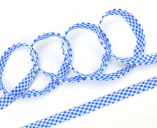 3 Meter Paspelband - Biesenband - Vichy - Karo - Blau