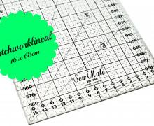 Patchworklineal - Quiltlineal - 16cm x 60cm - Schwarz