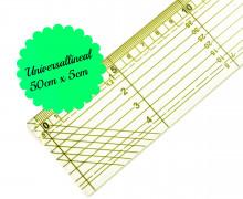 1 Universallineal - 50cm x 5cm - Transparent/Gelb