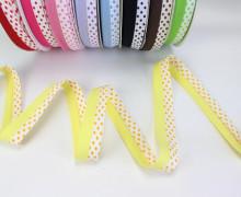 3m Schrägband - Zweifarbig - Punkte - Gelb