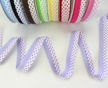 3m Schrägband - Zweifarbig - Punkte - Lavendel