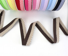 3m Schrägband - Zweifarbig - Streifen - Braun