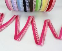 3m Schrägband - Zweifarbig - Streifen - Pink